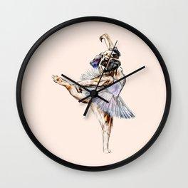 Pug Ballerina in Dog Ballet | Swan Lake  Wall Clock
