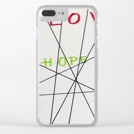 LOVE HOPE FAITH Clear iPhone Case