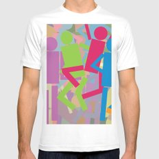 Miss Shapes White Mens Fitted Tee MEDIUM