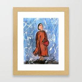 Nail Polish Painting of a Monk Framed Art Print
