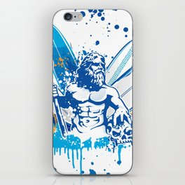 poseidon surfer II iPhone Skin