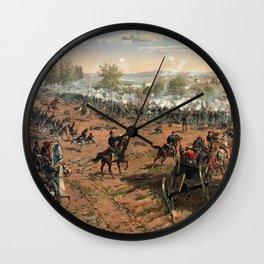 Civil War Battle of Gettysburg by Thure de Thulstrup (1887) Wall Clock