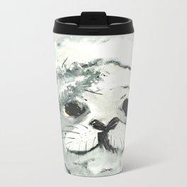 White Seal Metal Travel Mug