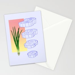scallion cross section graphic Stationery Cards