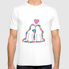 Valentines Day! MEDIUM Mens Fitted Tee White