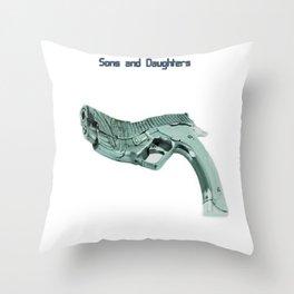 American Problems Pop-Art Gun Series #5 by Jéanpaul Ferro - Sons and Daughters Throw Pillow