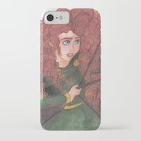 merida iPhone & iPod Cases featuring Merida by carotoki art and love