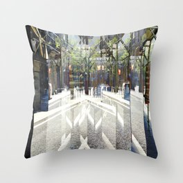 cross out or over paths summarized as with burrows Throw Pillow