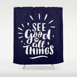 Quote Art #2 Shower Curtain