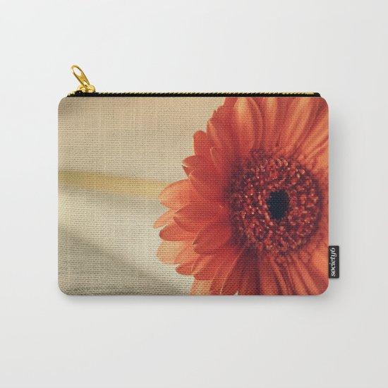 Golden Sunlight Orange Gerbera Carry-All Pouch