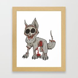 Rip your face off Framed Art Print
