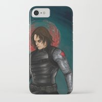 winter soldier iPhone & iPod Cases featuring Winter Soldier by toibi