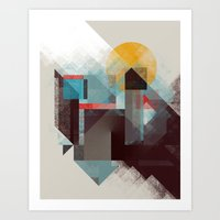 mountains Art Prints featuring Over mountains by Efi Tolia