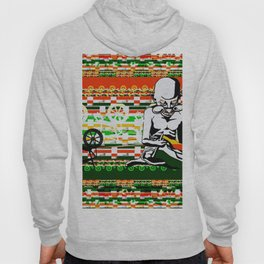 Ghandi and his Spinning Wheel Hoody