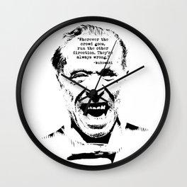 Charles Bukowski Quote Crowd Wall Clock
