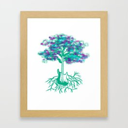 Guitar Tree With Roots Music Player Guitarist Framed Art Print