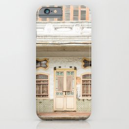 George Town, Penang Shop House Street Scene iPhone Case
