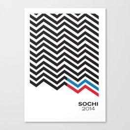 minimalism Sochi 2014 Canvas Print