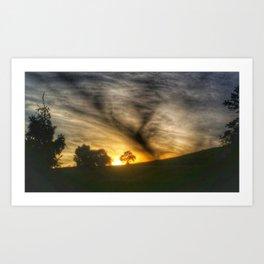 Sunset Cloud Tornado Art Print