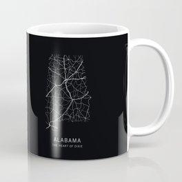 Alabama State Road Map Coffee Mug