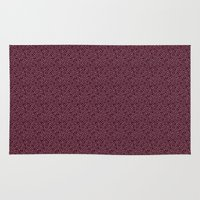 burgundy Area & Throw Rugs featuring Burgundy by Lisi Fkz