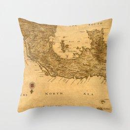 Map Of Panama 1800 Throw Pillow