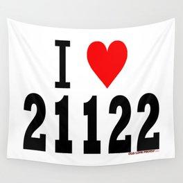 """Pasadena, Maryland """"I Heart 21122""""  Wall Tapestry"""