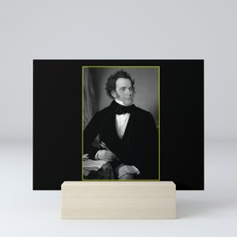 August rieder-Portrait of Schubert Mini Art Print