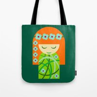 poison ivy Tote Bags featuring Poison Ivy by Kellyanne