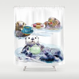 The Otter's Tea Shower Curtain