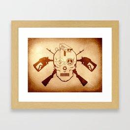 Doom Skull, Beware! Wild West Style Framed Art Print
