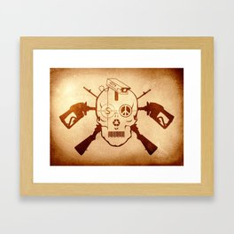 Doom Skull, Beware! Wild West Style Framed Art Print