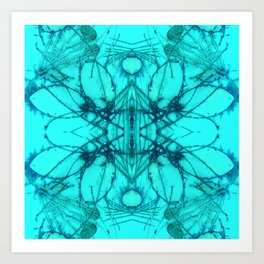 Blue Magical Palace Art Print
