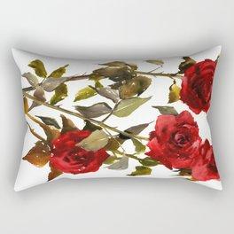 Burgundy Red Roses Rectangular Pillow