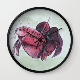Bubbles, Betta Fish Wall Clock