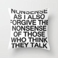 Nonsense Throw Pillow