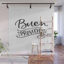 BUEN PROVECHO SIGN, Bon Appetit Sign,Spanish Decor,Spanish Gifts,Food Gift,Kitchen Decor Wall Mural