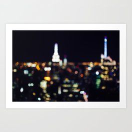 New York City Lights Art Print