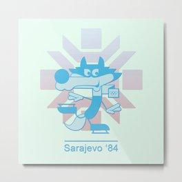 Vucko - 1984 Winter Olympics (blue) Metal Print