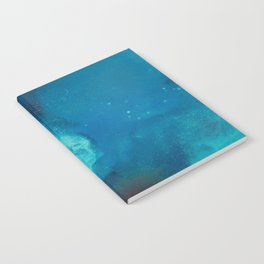 WaterColor Turqouise Blue Print Notebook
