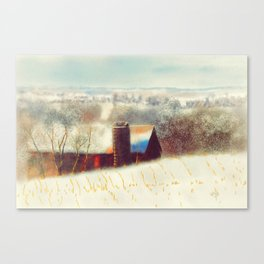 The Barn Over The Hill Canvas Print