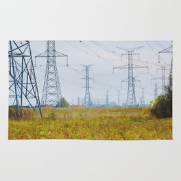 Landscape with power lines Rug