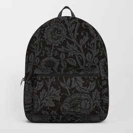 "William Morris Floral Pattern | ""Pink and Rose"" in Black and Grey 