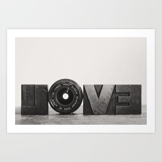 love is ... Art Print
