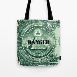 danger dollar Tote Bag
