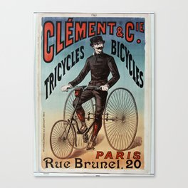 Clement Bicycles Advertising Canvas Print