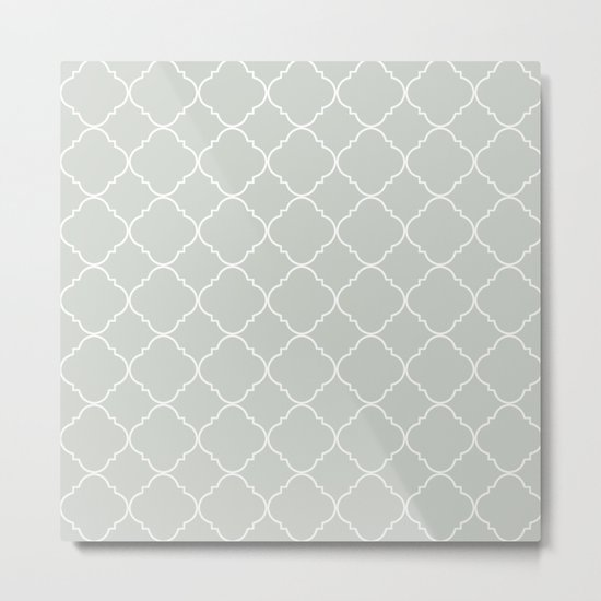 Gray Grey Moroccan Sea Salt Metal Print