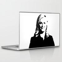 leslie knope Laptop & iPad Skins featuring Leslie Knope by Bjarni Bragason