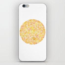 Yellow Round Gem iPhone Skin