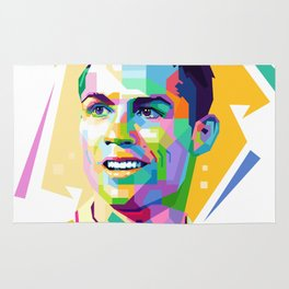 Cristiano Ronaldo In Pop Art Rug